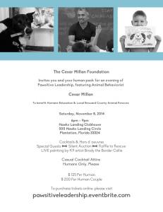 Cesar Millan FL 2014 Invite-flyer